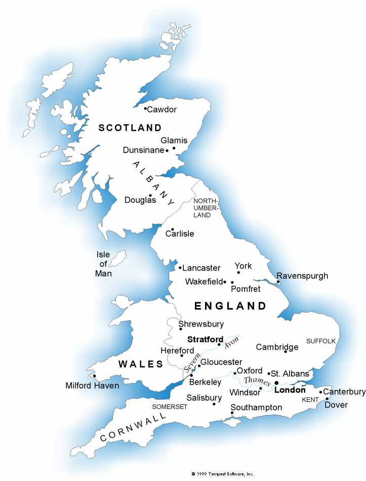 Big Map Of England.Bardware Com Facts About William Shakespeare